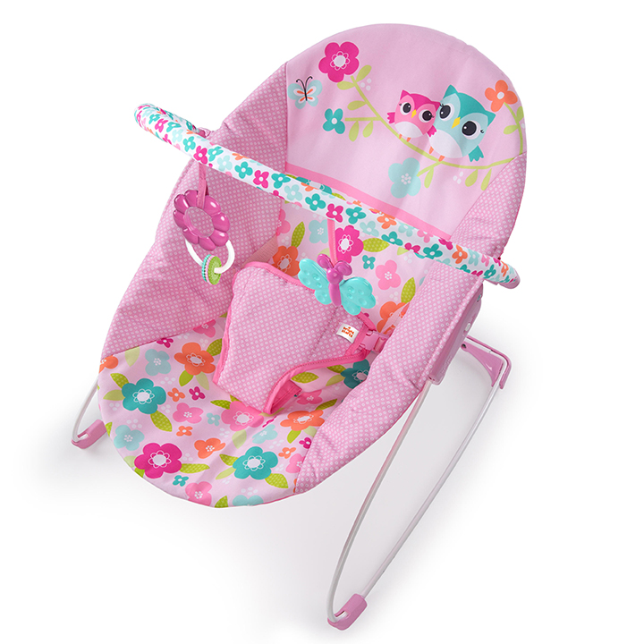 BRIGHT STARTS Bouncer con Vibración Fanciful Flowers