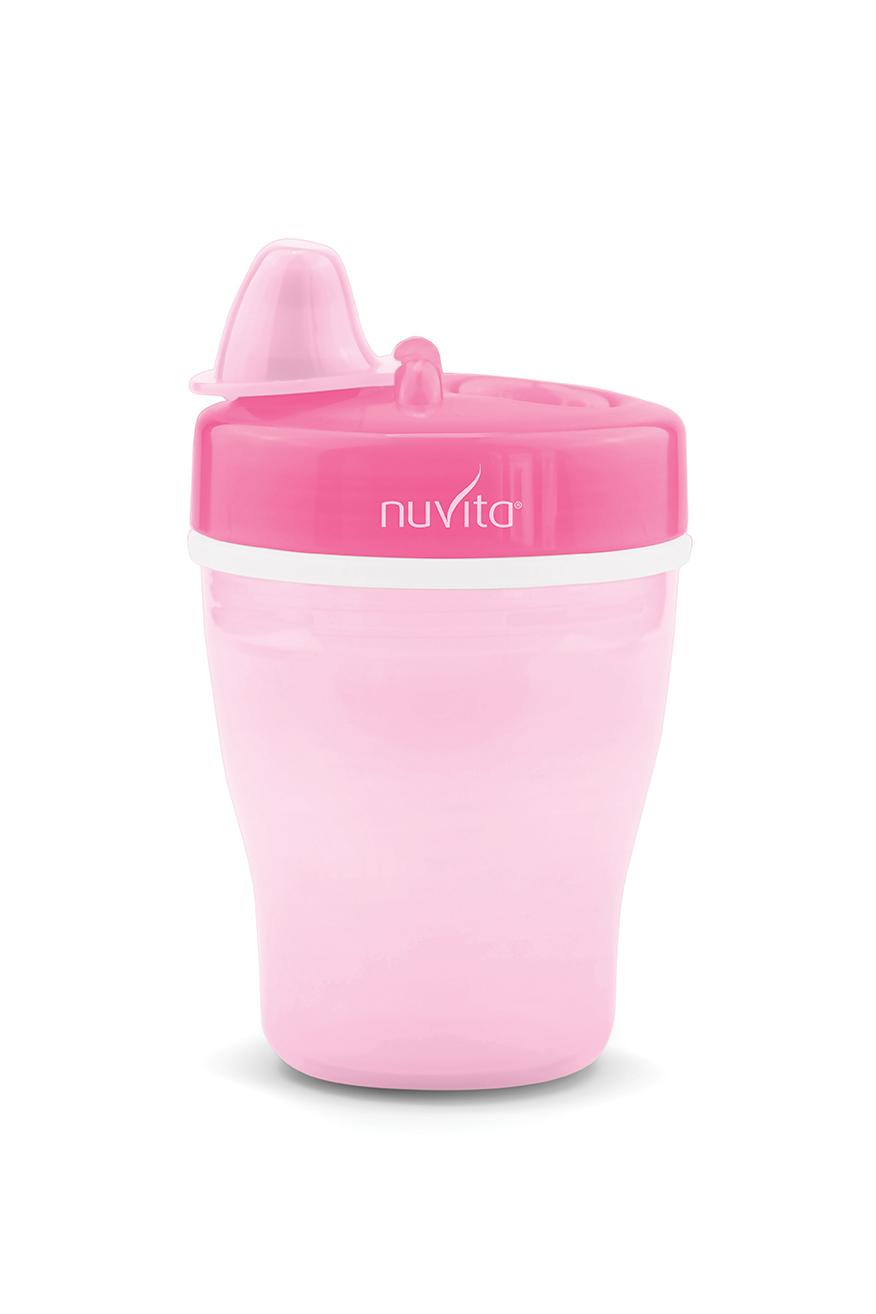 NUVITA Vaso Térmico con Boquilla 12m+ Pink