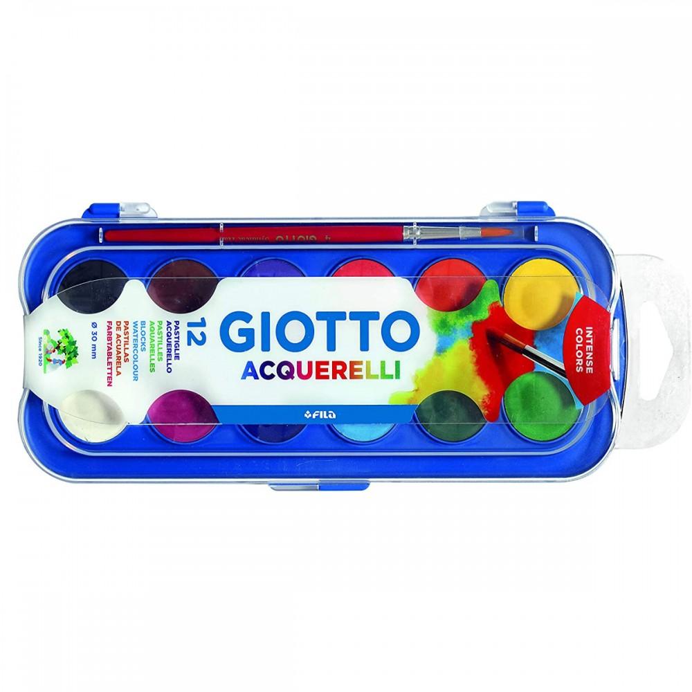 Giotto Acuarela 30mm x12 Colores