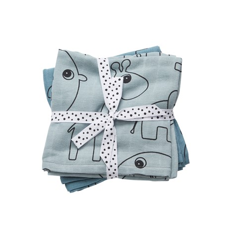 DONE BY DEER Swaddle Contour Celeste x 2