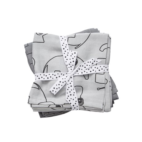 DONE BY DEER Swaddle Contour Gris x 2