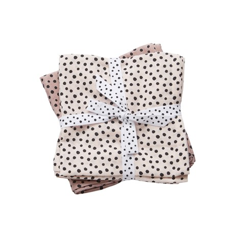 DONE BY DEER Swaddle Happy Dots Pink x2