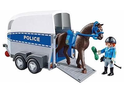 PLAYMOBIL Policía con Caballo y remolque