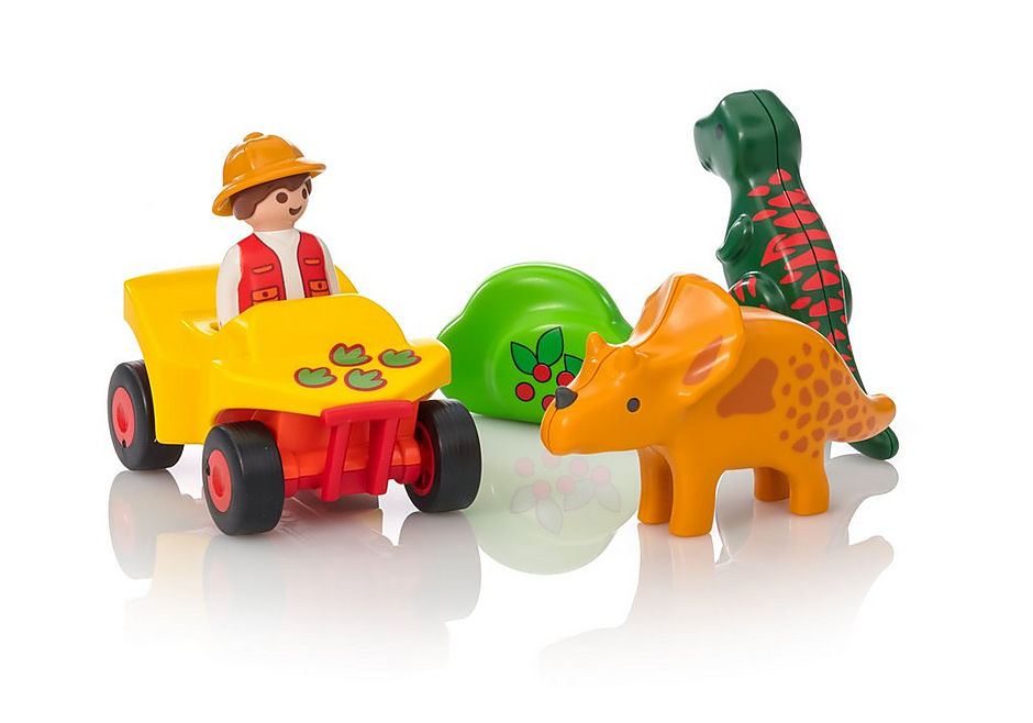 PLAYMOBIL Quad con Dinosaurios