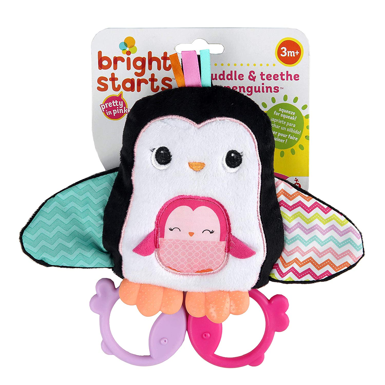 BRIGHT STARTS Mordillo Pingüino Teethe & Squeak