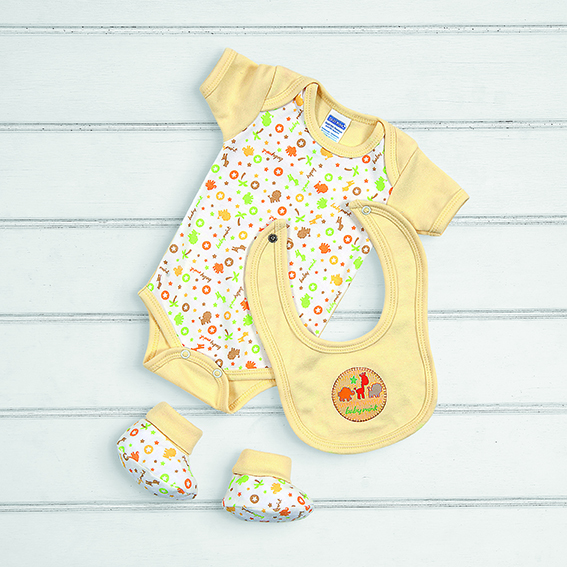 BABY MINK Baby Set 3pzas Amarillo