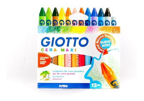 Giotto Maxi Crayon x12 Surtidos