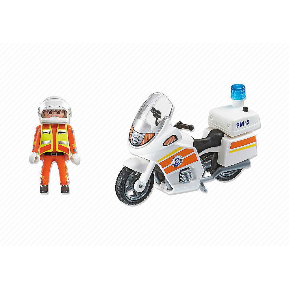 PLAYMOBIL Moto de Emergencia con Luz