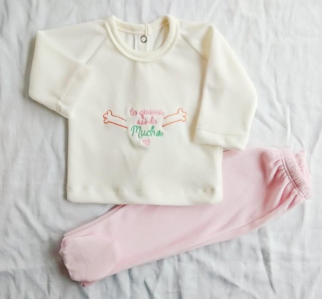 MINI MELON Conjunto con amor rosa