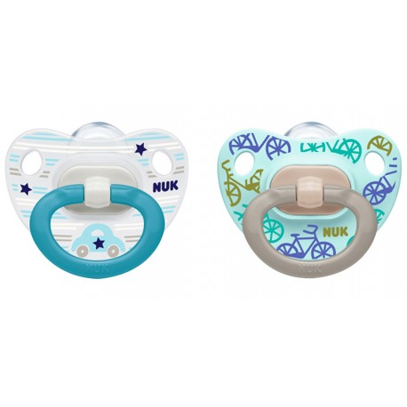 NUK Chupete Happy Days 0-6 m Blue