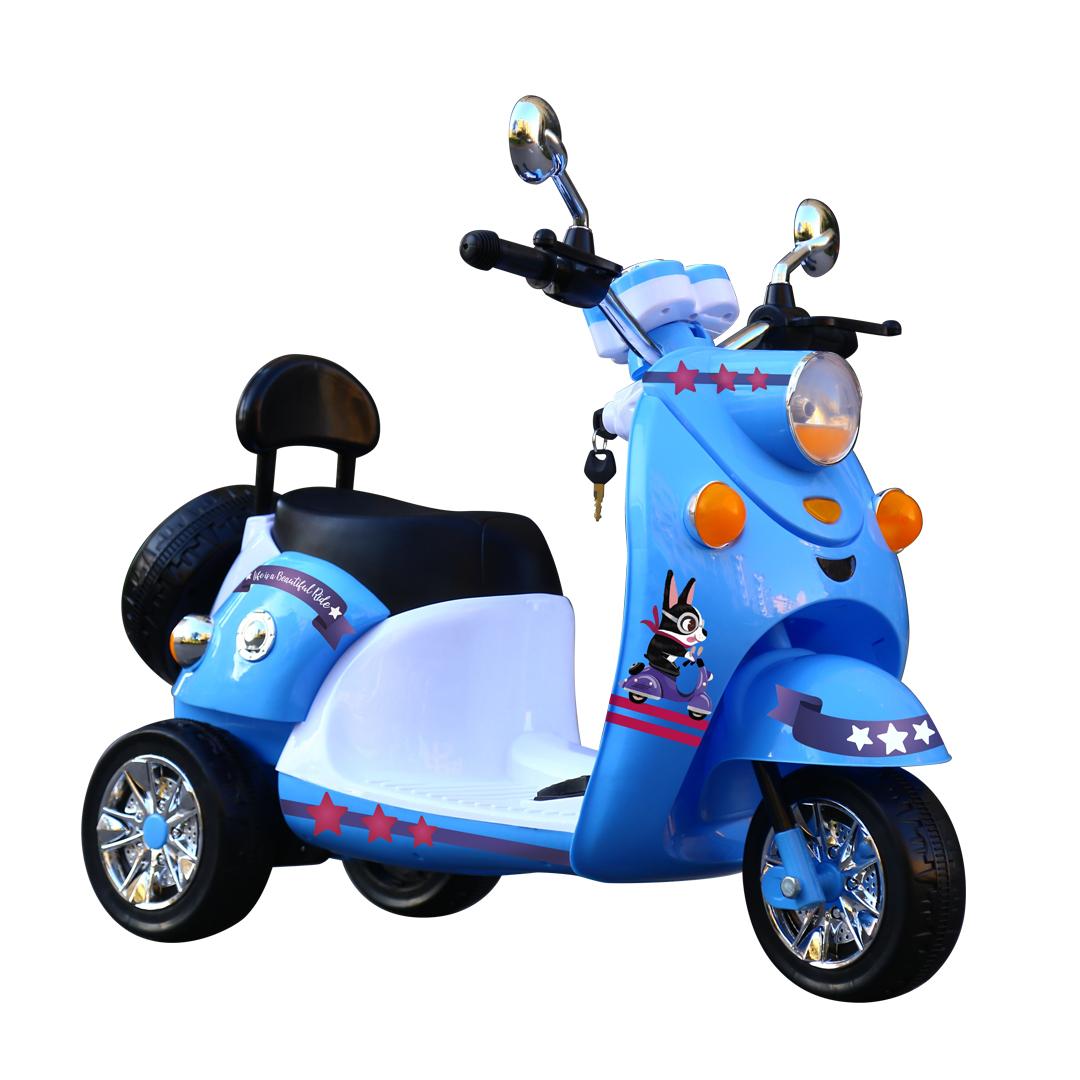 BEBESIT moto Scooby a bateria celeste
