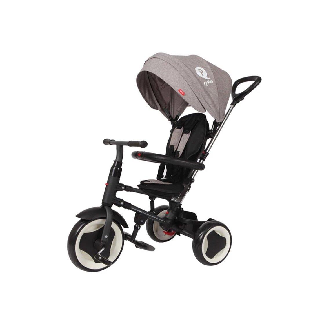 Bebesit Triciclo Rito Plegable Gris